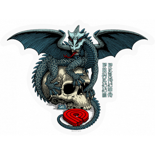 Powell Peralta Sticker Dragon Skull single