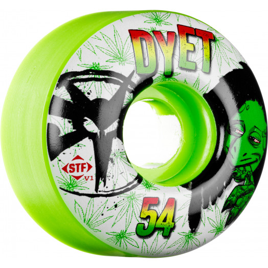 BONES WHEELS STF Pro Dyet Rasta Green 54mm 4pk