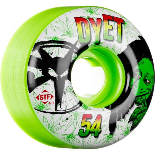 BONES WHEELS STF Pro Dyet Rasta Green 54mm 4pk