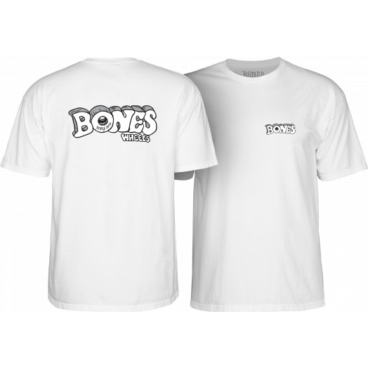 BONES WHEELS Heritage Stoned T-Shirt White