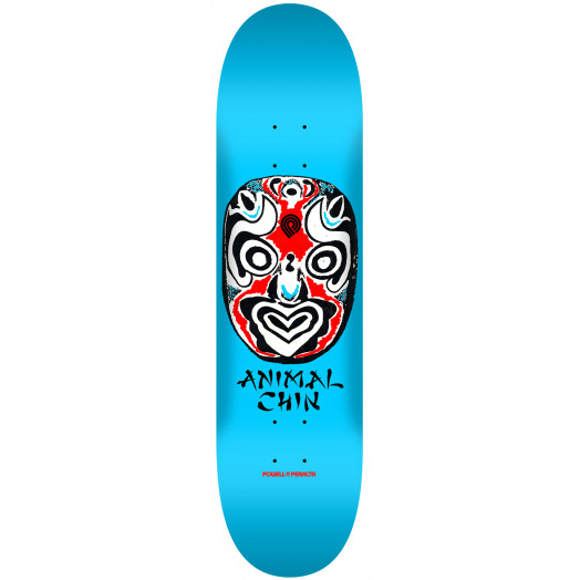 Powell Peralta LIGAMENT Chin Mask Blue Skateboard Deck - 7.88 x 31.67