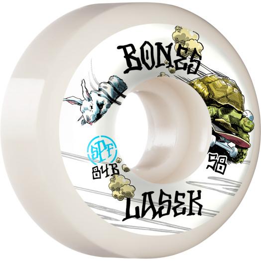 BONES WHEELS PRO SPF Skateboard Wheels Lasek Tortoise & Hare 58mm P5 Sidecut 84B 4pk