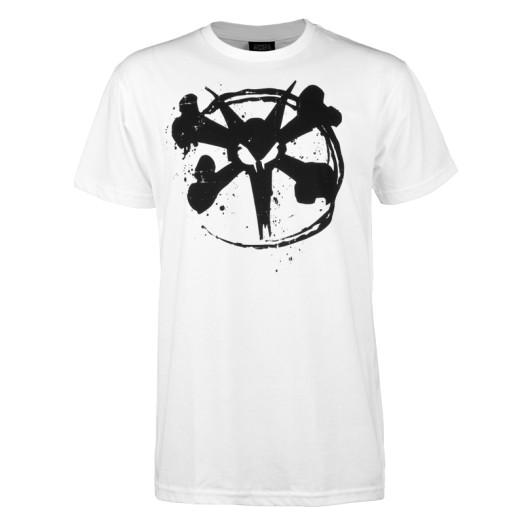 BONES WHEELS Circle Rat T-shirt - White