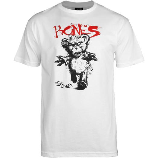 BONES WHEELS Deady Bear T-shirt - White