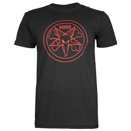 BONES WHEELS Pentagram T-shirt - Black