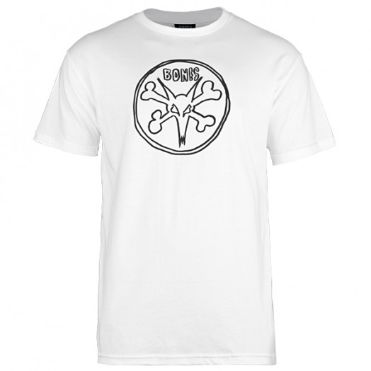 BONES WHEELS Pope Rat T-shirt - White