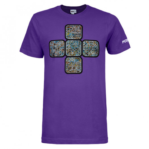 Positiv Chaos T-shirt - Purple