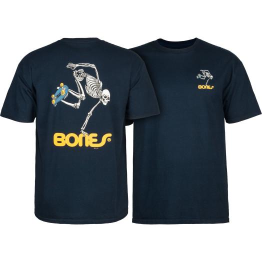 Powell Peralta Skate Skeleton T-shirt - Navy