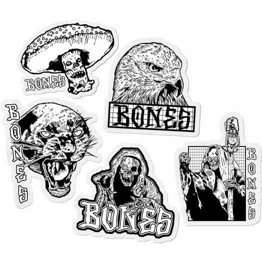 BONES WHEELS Night Watch Sticker Singles - one each