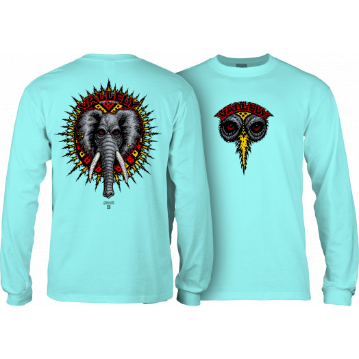 Powell Peralta Vallely Elephant L/S Shirt Celadon