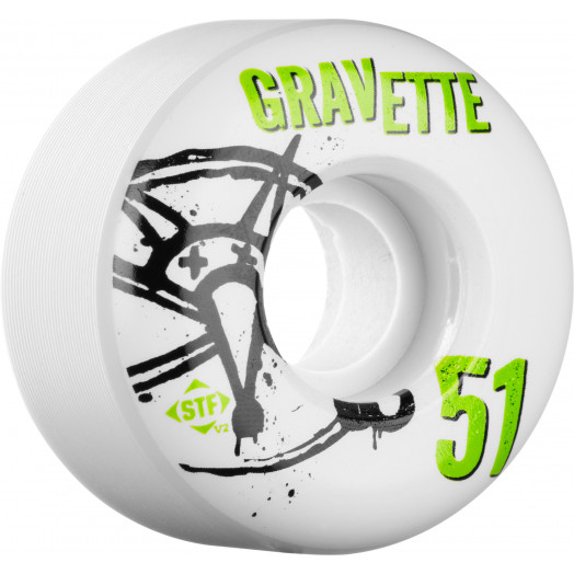 BONES WHEELS STF Pro Gravette Numbers 51mm 4pk