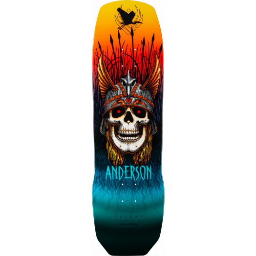 Powell Peralta Pro Andy Anderson Heron Flight® Skateboard Deck - 9.13 x 32.8