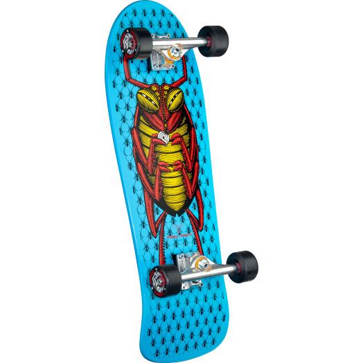 "Powell Peralta Bug Custom Complete Skateboard Blue - 9.85"" x 28.6"""
