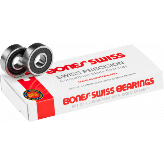 Bones® Swiss Skateboard Bearings 8 pack