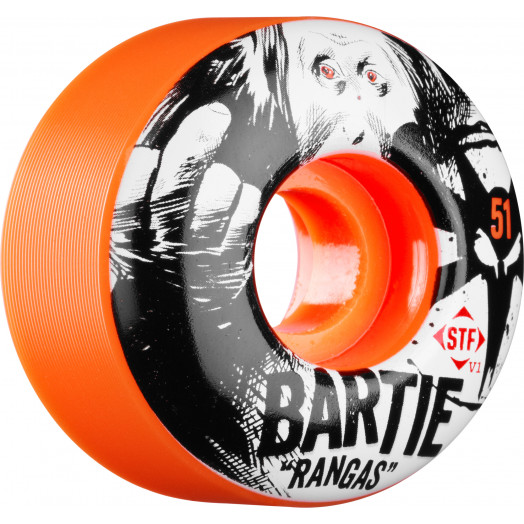 BONES WHEELS STF Pro Bartie Ranga Orange 51mm 4pk