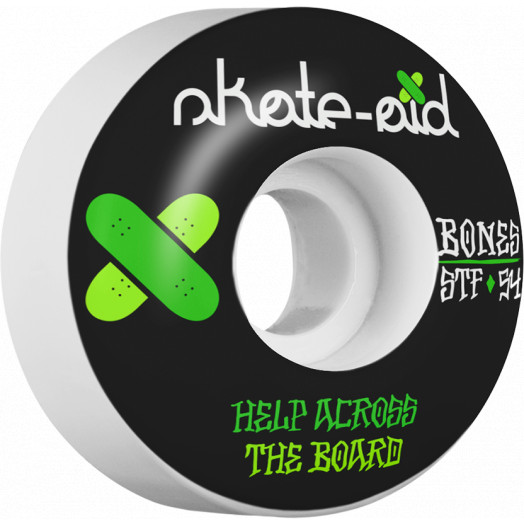 BONES WHEELS STF Collabo Skate Aid 2 54x32 V1 Skateboard Wheels 83B 4pk V1 Standard