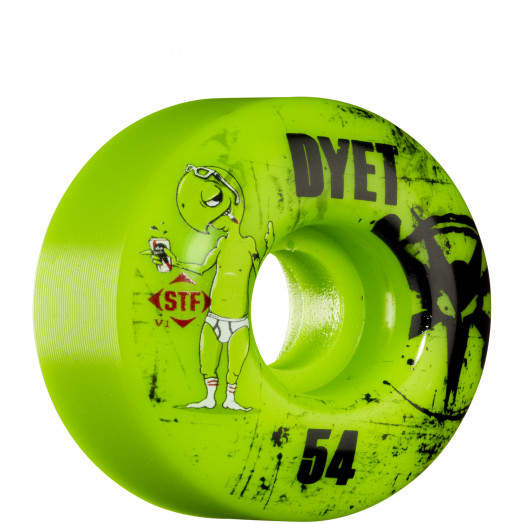 BONES WHEELS STF Pro Dyet Whities 54mm - Green (4 pack)