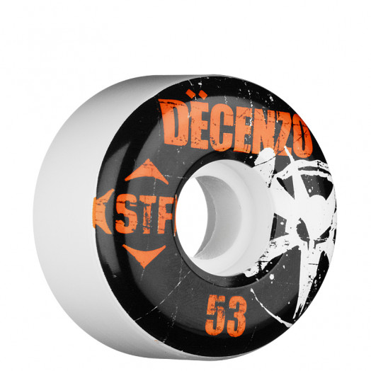 BONES WHEELS Pro Decenzo Rocker 53mm STF White (4 pack)