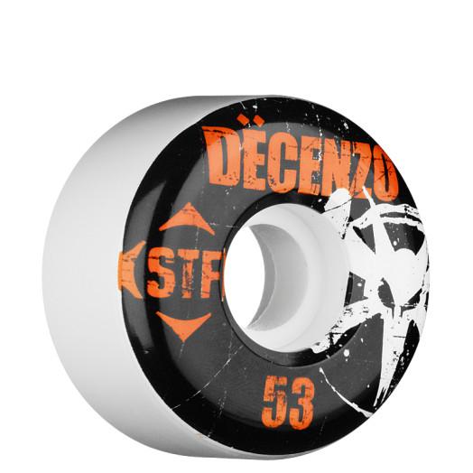 BONES WHEELS Pro Decenzo Rocker 53mm STF White (4 pack)