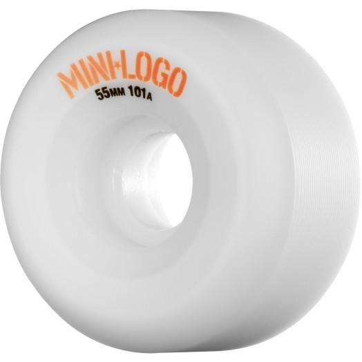Mini Logo A-cut Wheel 55mm 101a White 4pk