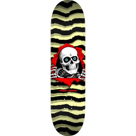 Powell Peralta Ripper Skateboard Blem Deck Pastel Yellow 245 K21 - 8.75 x 32.95
