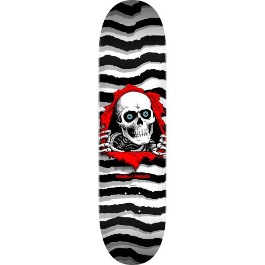 Powell Peralta Ripper Skateboard Blem Deck Pastel White 247 K20 - 8 x 31.45