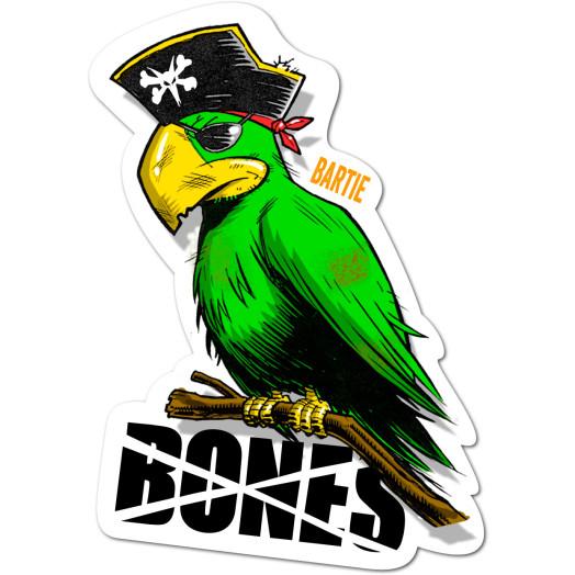 BONES WHEELS Bartie Parrot Sticker Single