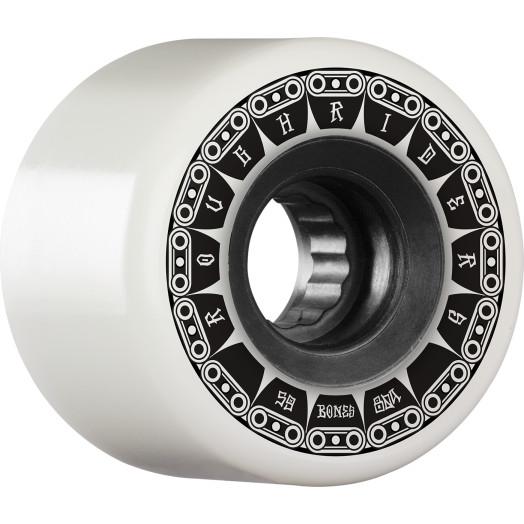 BONES WHEELS ATF Rough Rider Tank Skateboard Wheel 59mm 80a 4pk White