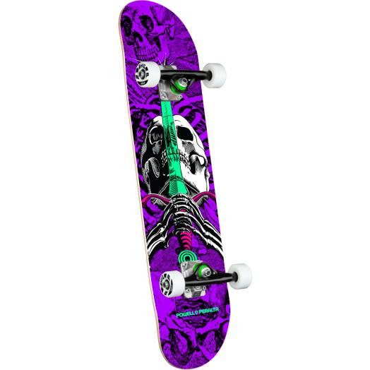 Powell Peralta Skull & Sword One Off Purple Birch Complete Skateboard - 7.5 x 28.65