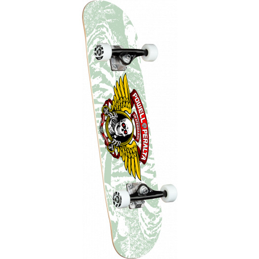 Powell Peralta Mini Winged Ripper White Complete Skateboard - 8 x 31.45