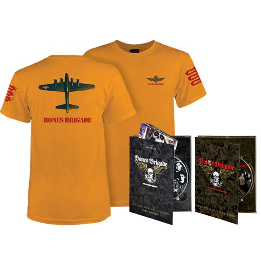 BONES BRIGADE: An Autobiography Blu-Ray/DVD + Gold Bomber T-Shirt + Bonus Brigade DVD Combo