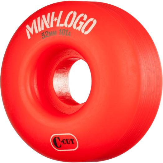 Mini Logo Skateboard Wheels C-cut 52mm 101A Red 4pk