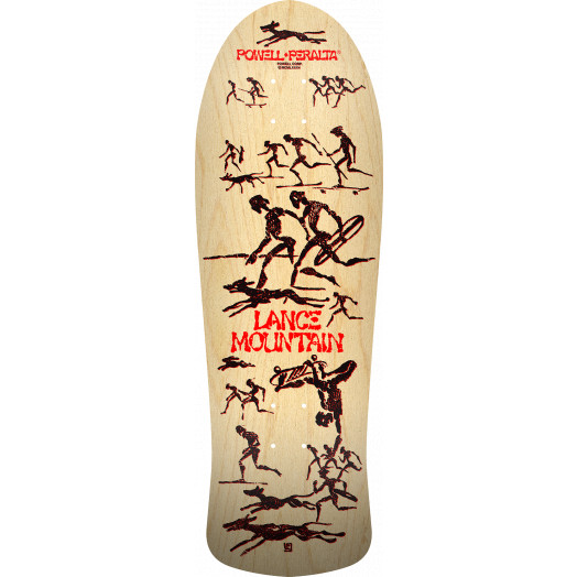 PRE-ORDER Bones Brigade® Lance Mountain 11th Series Reissue Skateboard Deck Natural - 10 x 30.75