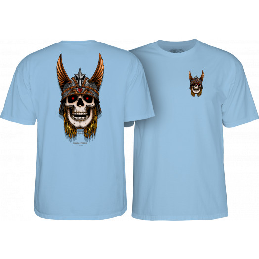 Powell Peralta Andy Anderson Skull T-Shirt - Caralina Blue