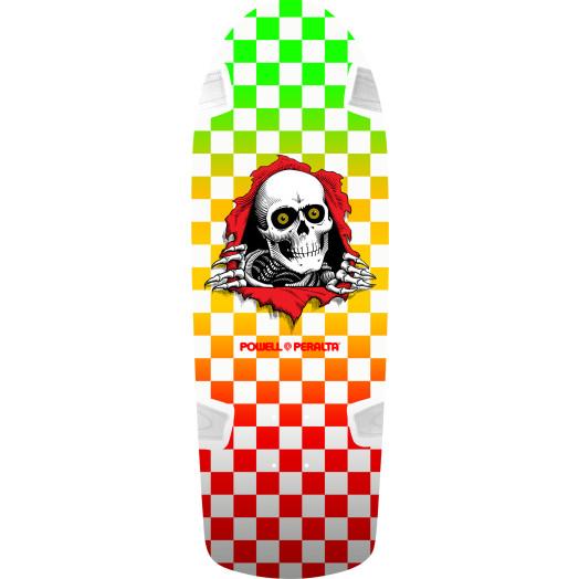 Powell Peralta OG Ripper Skateboard Deck Checker Multi Color- 10 x 30