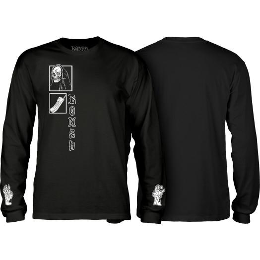 BONES WHEELS Terror Nacht Creeper Longsleeve T-shirt Black