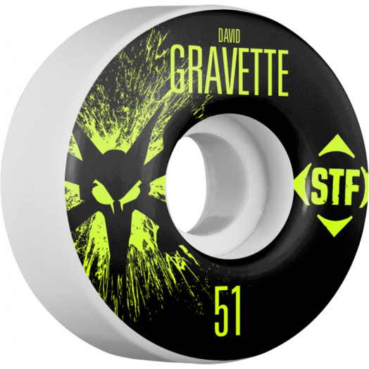 BONES WHEELS STF Pro Gravette Team Wheel Splat 51mm 4pk