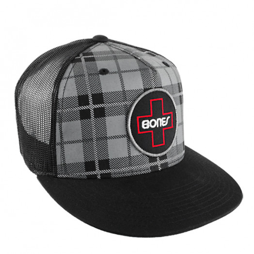 Bones® Bearings Plaid Swiss Circle Trucker Cap
