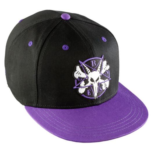 BONES WHEELS Pentagram Cap - Black/Purple