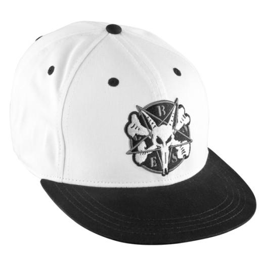 BONES WHEELS Pentagram Cap - White/Black