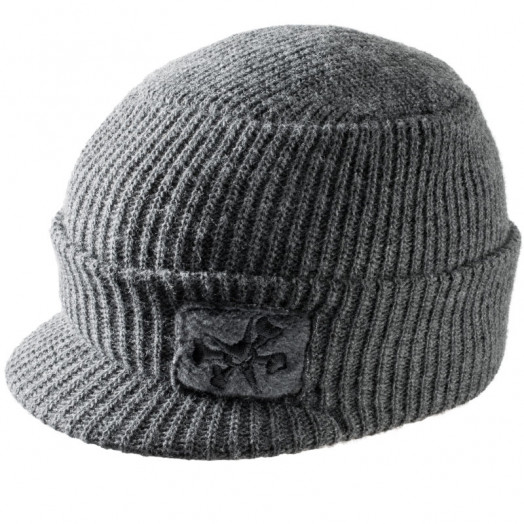 "BONES WHEELS ""Assault"" Billed Gray Beanie"
