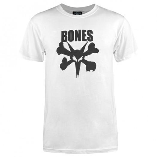 BONES WHEELS Photo-Op T-shirt - White