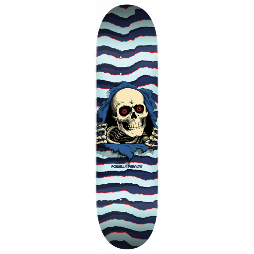 Powell Peralta Ripper Skateboard Deck Blue - Shape 246 - 9 x 32.95