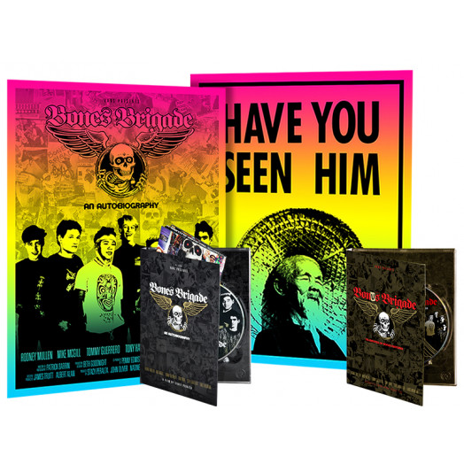 BONES BRIGADE: An Autobiography Blu-Ray/DVD/Colby Poster + Bonus Brigade DVD + Animal Chin Colby Poster Combo