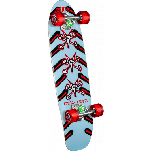 Powell Peralta SIdewalk Surfer Rat Bones Skateboard Cruiser Assembly Blue - 7.75 x 27.20 WB 14.0