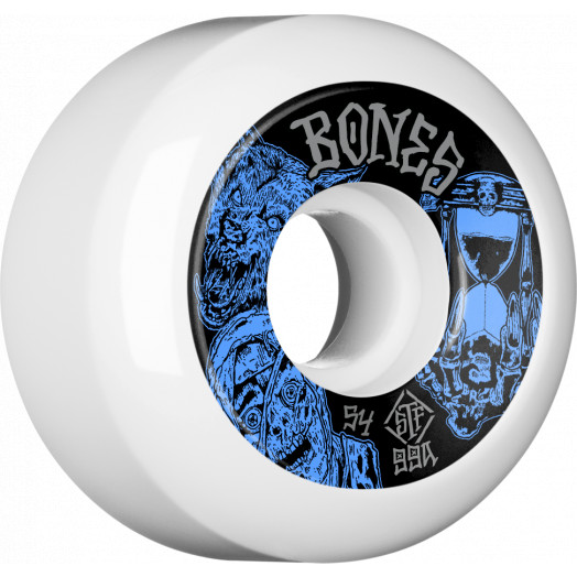 BONES WHEELS STF Time Beasts Skateboard Wheels 54mm 99a Easy Streets V5 Sidecuts 4pk