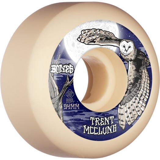 BONES WHEELS PRO STF Skateboard Wheels Trent McClung Barn Owl 54mm V5 Sidecut 99A 4pk