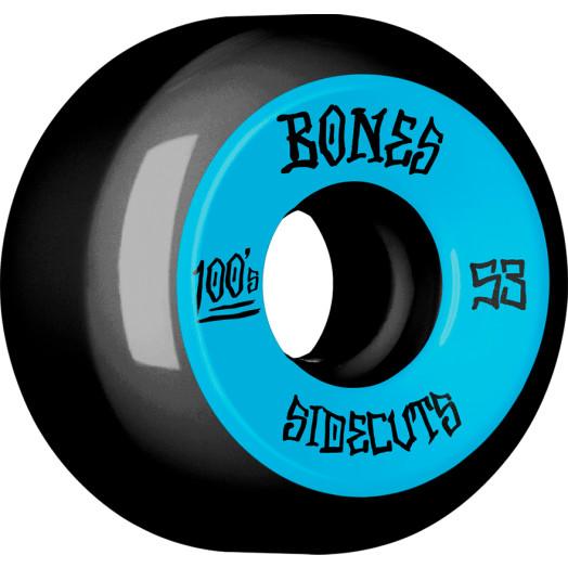 BONES WHEELS 100 #2 V5 Skateboard Wheel 53mm 4pk Black V5 Sidecut