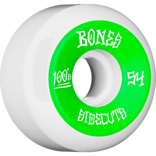 BONES WHEELS 100 #2 V5 Skateboard Wheel 54mm 4pk White V5 Sidecut