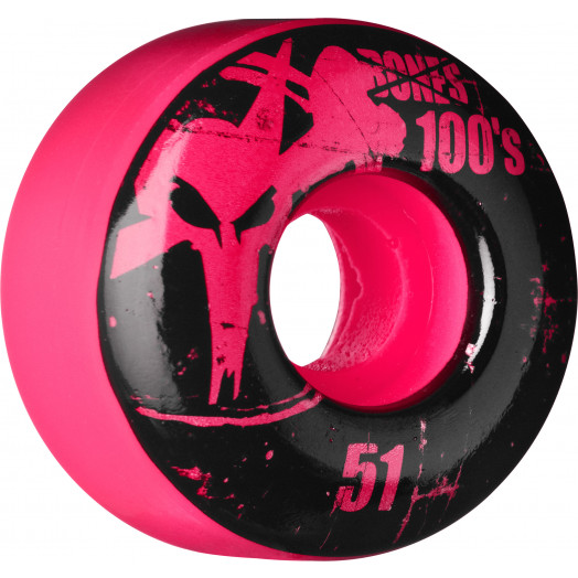 BONES WHEELS 100 Slims 51mm - Pink (4 pack)